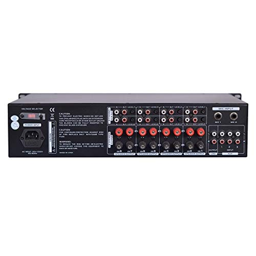 12-Channel Wireless Bluetooth Power Amplifier - 6000W Rack Mount Multi Zone Sound Mixer Audio Home Stereo Receiver Box System w/RCA, USB, AUX - for Speaker, PA, Theater, Studio/Stage - Pyle PT12050CH by Pyle (Image #1)
