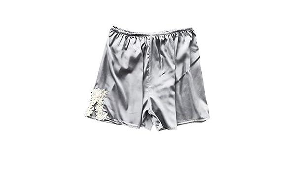 95ceb8f9b6 Women s Sexy Plus Size Sleep Shorts Stain Lace Babydoll Short Pants Silk  Temptation Parjamas Nightgown Sleepdress S-3XL at Amazon Women s Clothing  store
