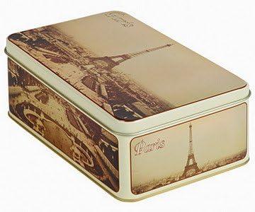 Caja de Azucar FRANCIA VINTAGE METAL 19x13x7cm TORRE EIFFEL PARIS FRANCIA: Amazon.es: Hogar