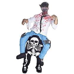 Unisex Piggy Back Skeleton Piggyback Costume - with Stuff Your Own Legs