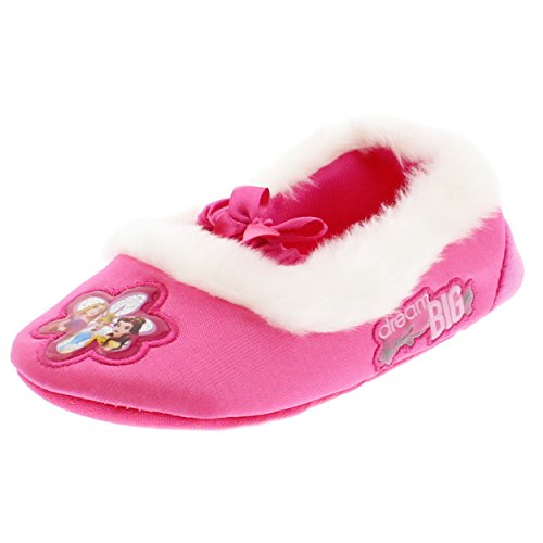 Disney Princess Kids Ballet Style Slippers (5-6 M US Toddler, Dream Big Pink) ()