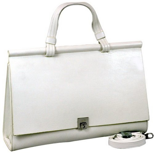 Woman Designer Briefcase Business Bag Handbag off White, Bags Central