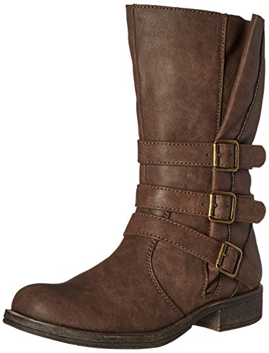 Sugar Women's Ruler Ankle Bootie, Brown, 6 M US