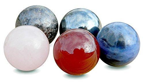 Healing Stone Set - Marble Jewelry - No Hole Beads (10mm)