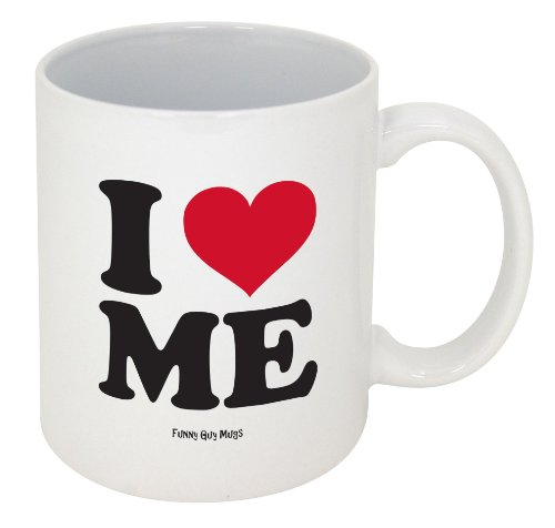 Funny Guy Mugs I Love Me Ceramic Coffee Mug, White, 11-Ounce