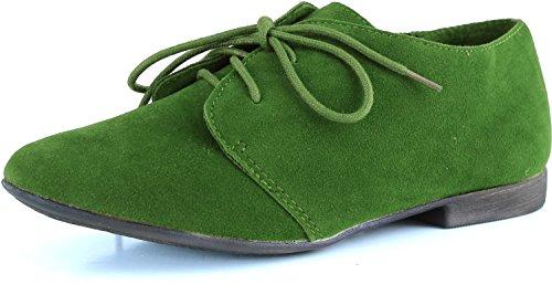 Breckelles Sand-31 Enkel Klassisk Snøring Flat Oxford Sko, 6.5 B (m) Oss, Eplegrønn, 6.5 B (m) Oss