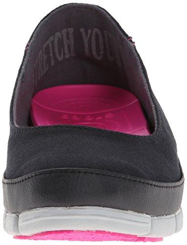 Crocs estiramiento suela plana Black/Light Grey