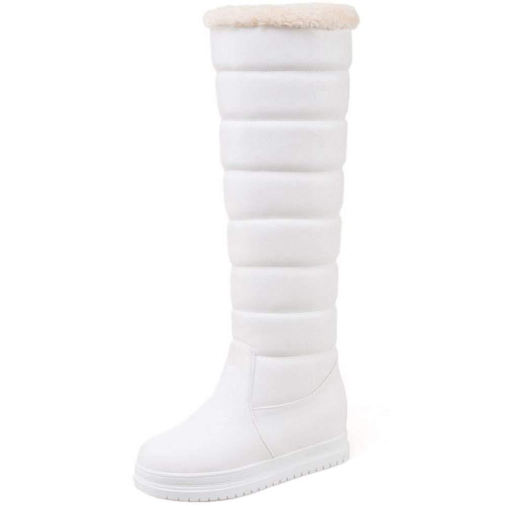 ZHRUI Frauen warme Flatform Schneeschuhe Schneeschuhe Schneeschuhe ziehen an 3b55d2