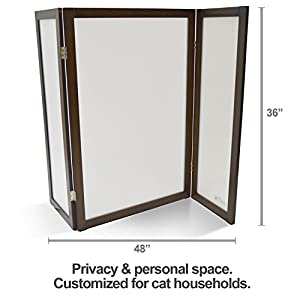 PetFusion ModestCat Litter Box Privacy Screen (3' tall; 4' wide). Cat litter box furniture best for your cat's health 114