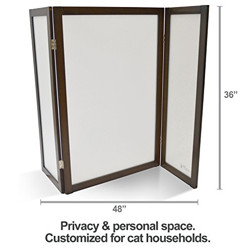 PetFusion ModestCat Litter Box Privacy Screen (3' tall; 4' wide). Hides your cat's litter. Customized for cat households