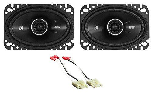 4x6 Kicker DSC Dash Speaker Replacement Kit for 1984-1991 Cadillac Seville