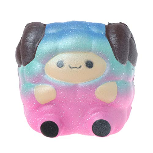 GUSENG Jumbo Sheep Squishy Cute Galaxy Rainbow Alpaca Slow Rising Scented Toy Gift Kids Toy Collection
