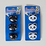 BAG CLIPS NOVELTY ANIMALS 3PK CAT/PANDA KITCHEN TCD, Case Pack of 48