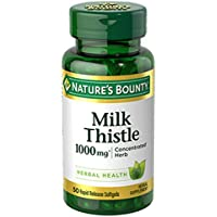 Milk Thistle by Nature's Bounty, Herbal Health Supplement, Supports Liver Health, 1000 mg, 50 softgels