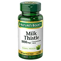 Nature's Bounty Milk Thistle Pills and Herbal Health Supplement, Supports Liver...