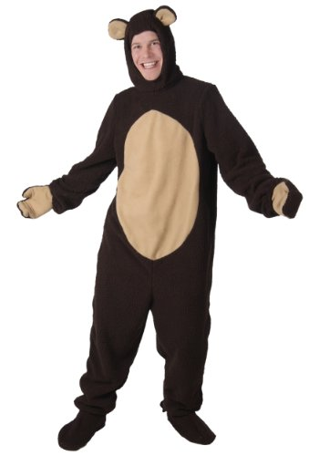 Plus Size Bear Costume Adult Bear Costume Jumpsuit 4X Brown -