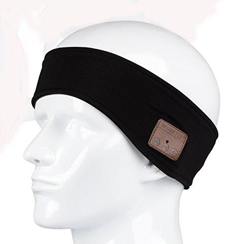 WINOMO Bandeau de Bluetooth pour courir avec le casque sans fil casque écouteur stéréo (noir)