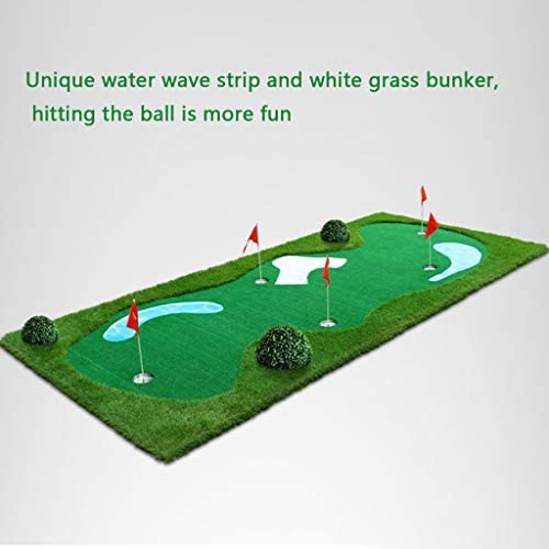 ゴルフパッティンググリーングラスルーツマット、16フィートx 6.5フィート、無料の6つのゴルフボールが含まれています-アウトドアやインドアに最適です-練習、トレーニングに-より厚く、より広い表面-すべての年齢層に!