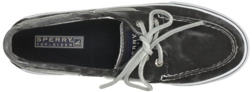 Sperry Bahama - Zapatos de lona para mujer Negro (Schwarz (Black))