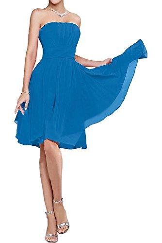 Mini Cocktailkleider Damen Abendkleider La Blau Partykleider Promkleider Braut mia Traegerlos Brautjungfernkleider P8xCwnqHA