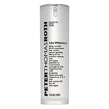 Amazon.com : Peter Thomas Roth Unwrinkle Deep Wrinkle Facial Expression Line Serum 1 oz - Full Size : Foundation Makeup : Beauty
