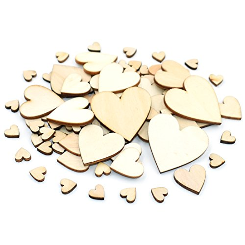 DLUcraft Wooden Games Heart Blank Wood Cutout Heart