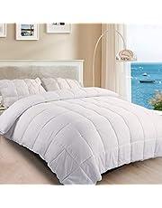 TASTELIFE Bedding Quilt 105GSM Highly Breathable Pure Soft Comforter, Duvet Insert Great for Summer Quilt(King Size, White Color, 240 * 210cm)