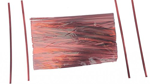 7'' Red Metallic Ties - 500 Per Bag (15 Bags) - 7-RM