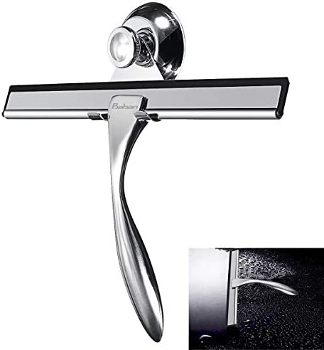 Baban tergicristallo//spazzole tergicristalli Spatola pulisci bagno Lavavetri Tergivetri Spatola Pulisci doccia e vasca in acciaio inox incluso parete di fissaggio