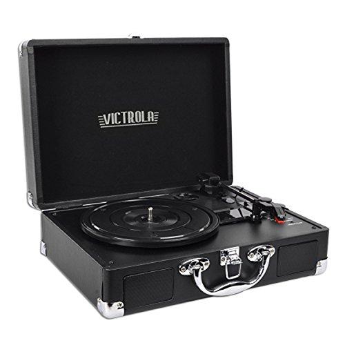 Innovative Technology VSC-550BT Victrola 3-Speed Vintage Turntable - Black (Certified Refurbished)