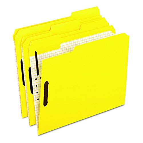 Pendaflex 21309 Colored Folders With Embossed Fasteners, 1/3 Cut, Letter, Yellow (Box of - Tax Embossed Folders