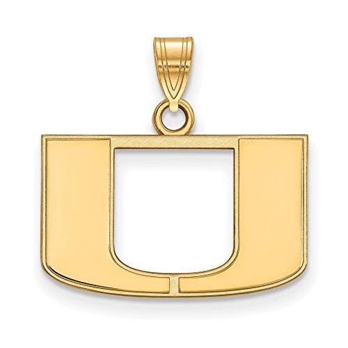 Miami Small (1/2 Inch) Pendant (14k Yellow Gold) by LogoArt
