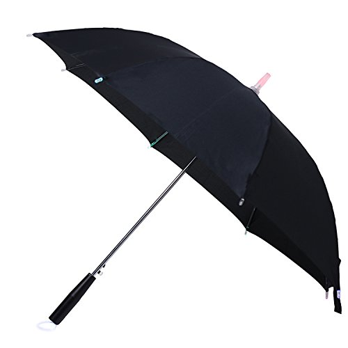 Creative Lightsaber Stick Umbrella 7 Colour changing LED Light Daily Accessory (black)