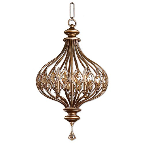 Burnished Gold Pendant - Siam Circus Sabina 3-light Burnished Gold Pendant