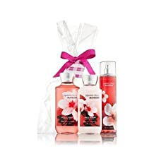 Bath & Body Works Japanese Cherry Blossom Gift Set - All New Daily Trio (Full-Sizes)