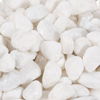 White Accent Home Crafting Craft Decor Project Decorative Real Stones Rocks 32 Ounces  2 Bags