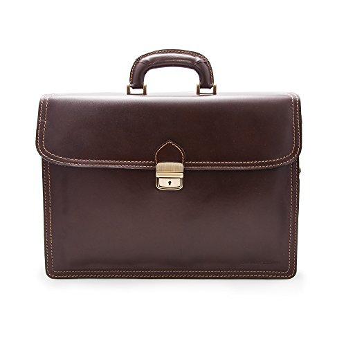 Zerimar Kuhleder aktentasche - brieftasche mehreren fächern. Maßnahmen: 40x12x30 cms 100% Natürlich. Qualität garantiert.