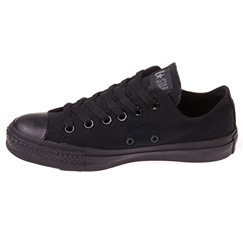 Converse Unisex Chuck Taylor All Star Ox Basketball Shoe (5.5 B(M) US Women / 3.5 D(M) US Me, Black Monochrome)