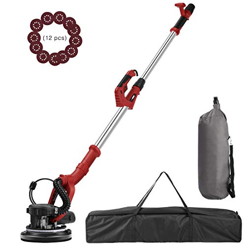 VIVOHOME 750W Electric Adjustable Variable Speed Drywall Sander Machine with Automatic Vacuum System LED Light and Storage Bag ETL Listed (Best Sander For Exterior Paint Removal)