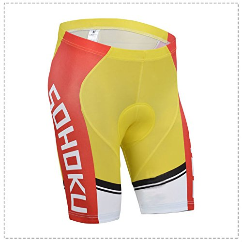 Yowamushi Pedal Men's Breathable Padded Cycling Shorts Sohoku Style (Rei Mens Shorts)