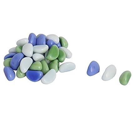 eDealMax Cerámica Piedra en Forma de pecera de Emulational del ornamento Piedra 37 Pcs tri Color