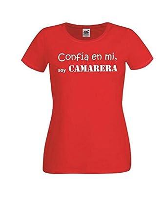 para Mujer Camiseta Camisetas divertidas Parent confia EN Mi Soy Camarera