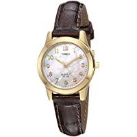 Timex Women's TW2R63600 Essex Avenue Brown Croco Pattern Leather Strap Watch