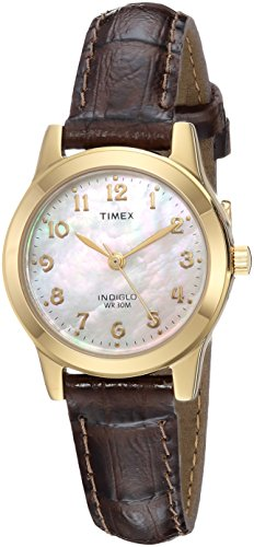 Timex Women's TW2R63600 Essex Avenue Brown Croco Pattern Leather Strap Watch ()