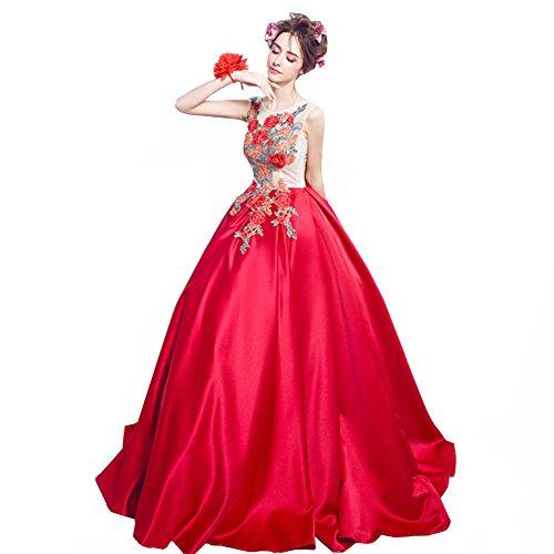 ロードされた集団的美人ウェディングドレス カラードレス エンパイア 花嫁ドレス 二次会 ボタン 刺繍 イブニングドレス 結婚式 披露宴 演奏会 謝恩会 フォーマル パーティードレス 結婚式 披露宴 小さいサイズ 大きいサイズ