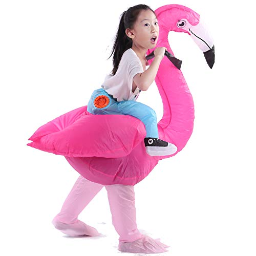 Staryard Inflatable Flamingo Costume Pink Piggyback Costume for -