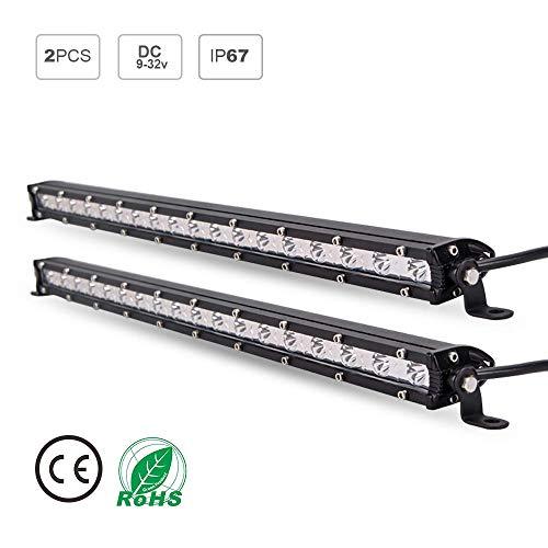 led light bar single row - 2PCS 54W 19inch LED Light Bar Off Road with CREE Chips Lamp spotlight LED Tractor Work Car Lights for Off-road Vehicle, ATV, SUV, UTV, - Chip Row
