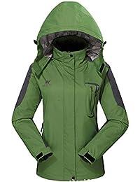 Womens Waterproof Raincoat with Hood for Hiking