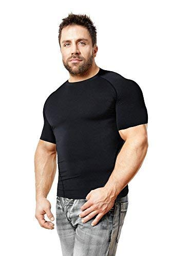 Copper Compression Short Sleeve Men's Recovery T Shirt. Highest Copper Content Guaranteed. Support Sore & Stiff Muscles & Joints. Best Compression Fit T-Shirt Running, Basketball, Sports Wear (Large) by Copper Compression (Image #2)