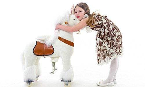 Smart Gear Pony Cycle White Unicorn Ride on Toy:  2 Sizes:  World's First Simulated Riding Toy for Kids Age 4-9 Years Ponycycle Ride-on Medium (Best Ride On Toys For 8 Year Olds)